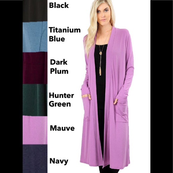 3a8d1c0c30b Plus Size Long Slouch Cardigan Sweater w  Pockets